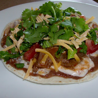 Slow Cooker (Really easy and fast) Tostadas with Shredded Beef