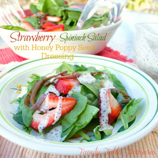 Strawberry Spinach Salad {with Honey Poppy Seed Dressing}
