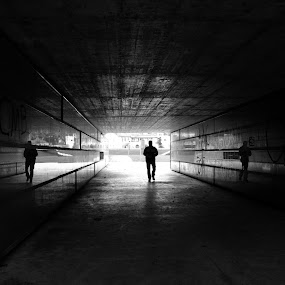 Alone in dark by Cristina Mestre - City,  Street & Park  Street Scenes