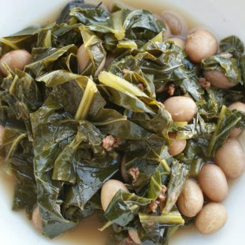 Savory Shelling Beans and Greens