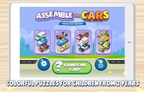 Assemble the Cars for toddlers - screenshot