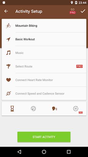 Runtastic Mountain Bike GPS Tracker screenshot 2