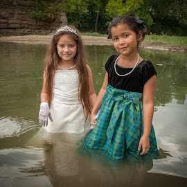 Two Wet Flower Girls 01 by Carter Keith - Wedding Other ( wet girls, rock the frock, children, flower girls, trash the dress )