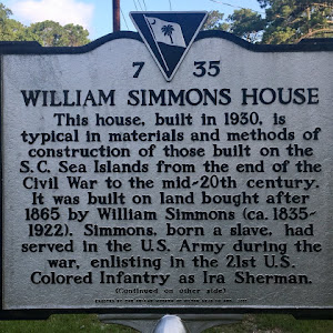 WILLIAM SIMMONS HOUSE  This house, built in 1930, is  typical in materials and methods of  construction of those built on the  S.C. Sea Islands from the end of the  Civil War to the mid-20th century  ...