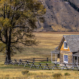 The Miller House by Chad Roberts - Buildings & Architecture Public & Historical ( elk refuge, miller house, wyoming, house, grand tetons, jackson hole )