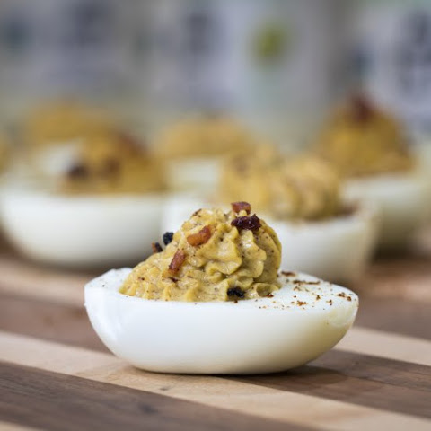 Maple Bacon Coffee Deviled Eggs