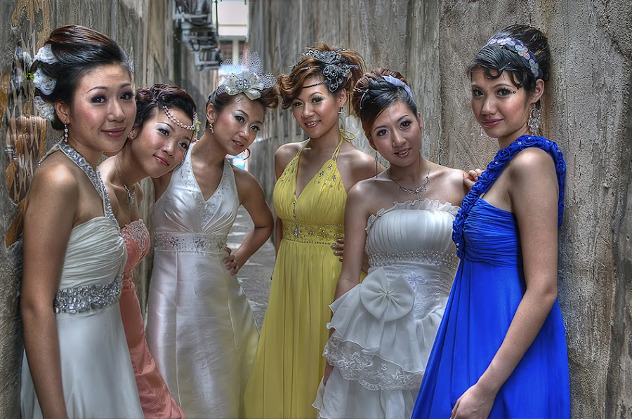 Brides by David Cheok - Wedding Bride ( dvdcheok, hdr, wedding, brides, group )