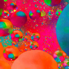 Bubbly Baubles by Carole Pallier  - Abstract Patterns ( abstract, macro, colourful, art, bubbles, effects, oil )