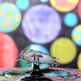 Water Droplet Collision by Micah Jaron Flack - Abstract Water Drops & Splashes ( water, droplet, collision )