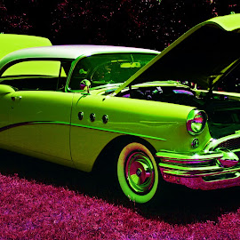 Green and Purple by Clarence Hagler - Digital Art Things ( edmond, classic car, purple, oklahoma, green )