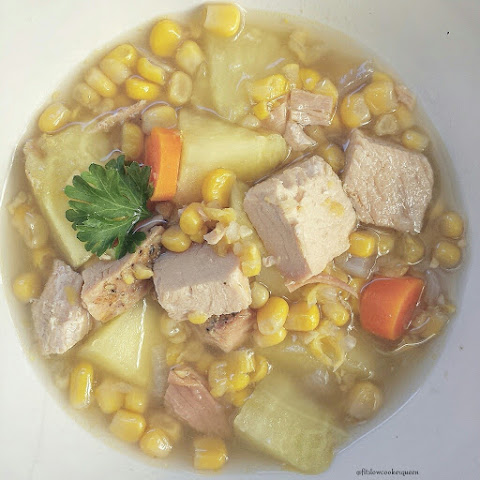 Slow Cooker Turkey Corn Chowder