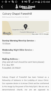 Calvary Chapel Foresthill - screenshot