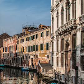 by Mario Horvat - City,  Street & Park  Street Scenes ( venezia, water, old, houses, touristic, venice, travel, architecture, boat, canal, historic )