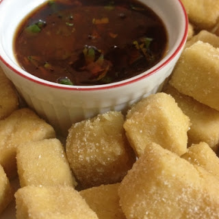 Fried Tofu and Awesome-ish Sauce