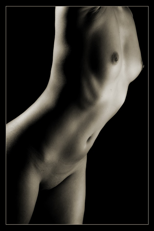 Shadow Play by Jeptha Eddy - Nudes & Boudoir Artistic Nude ( female, black and white, body form, artistic nude )