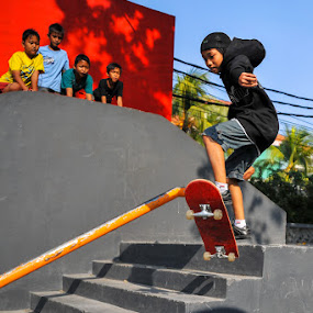 Morning Jump by Kèn Nugraha - Sports & Fitness Skateboarding