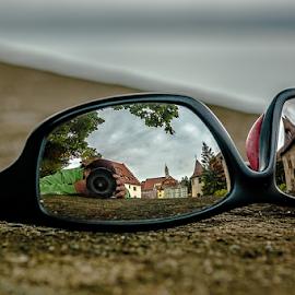 Sunglasses! by Jesus Giraldo - Artistic Objects Glass ( selfie, urban, concept, macro, reflection, colors, art, buildings, sunglasses )