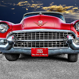 Full Monty by JEFFREY LORBER - Transportation Automobiles ( red cadillacm 1955, cadillac, lorberphoto, automobile, rust 'n chrome, jeff lorber, jeffrey lorber, car photo, red car )
