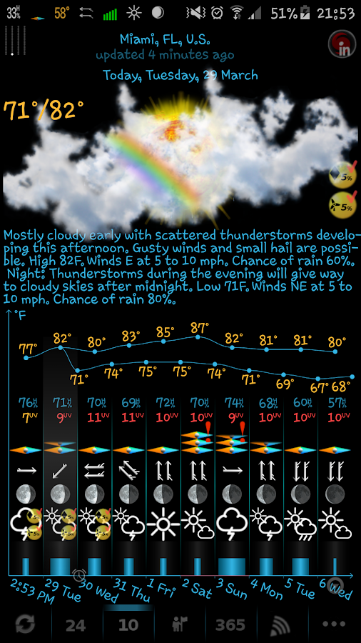 eWeather HD, Radar, Alerts Screenshot 2