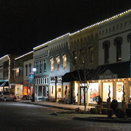 Downtown Rogers, AR by Jim Harris - Buildings & Architecture Public & Historical ( night scene, christmas, historic district, rogers, nightscapes )