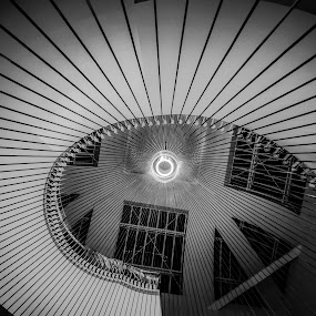 Diagonals by Crinu Topalo - Buildings & Architecture Architectural Detail ( stairs, black and white, lines, diagonal, architecture, photography )