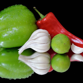GREEN ANDWHITE by SANGEETA MENA  - Food & Drink Ingredients
