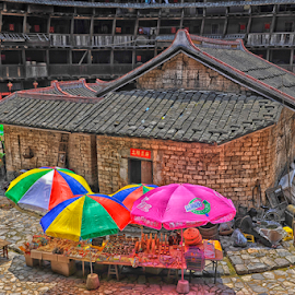 Earth Round Building by Ferdinand Ludo - Buildings & Architecture Homes ( houses, taken may 2009, rural dwellings, mountain china 19th century )