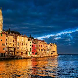 Sunrise over my soul by Marius Novac - Landscapes Travel ( reflection, sunrises, old town, croatia, sea, seascape, sunrise, sun )