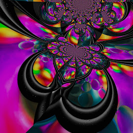 Trippy by Carole Pallier  - Abstract Patterns ( water, abstract, kaleidoscope, purple, pattern, art, effects, oil )