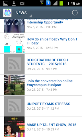 android Uniport Mobile Screenshot 1