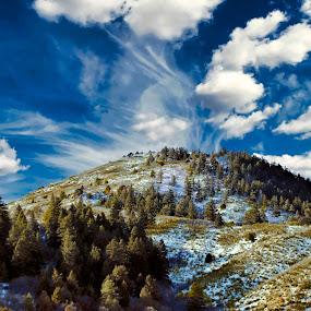 Top of the Canyon by Bruce Newman - Landscapes Mountains & Hills ( nature, beautiful mountains, colorado, vivid colors, dramatic sky, winter landscabe,  )