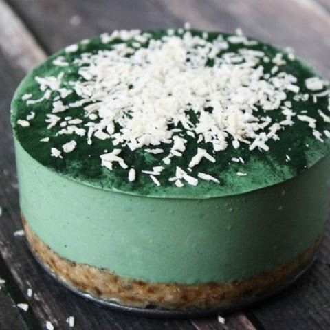 Raw Vegan No-Bake Spirulina Cheesecake with Spiral Spring Spirulina Maxima (Raw, Vegan, Gluten-Free, Dairy-Free, Soy-Free, Egg-Free, No-Bake,Paleo-Friendly, No Refined Sugar)