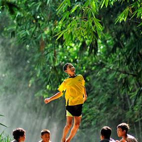 Fly.. by Jaka Ferdiyanto - Babies & Children Children Candids