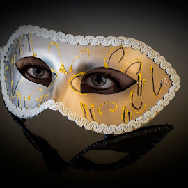 The mask by Katarina Wikberg - Digital Art People ( reflections, mask, eyes, venetian )