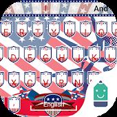 Free American Flag Typany Theme APK for Windows 8