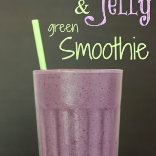 Peanut Butter & Jelly Green Smoothie