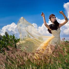 Fairy Wind by Nanto 사파이어 - People Fashion ( wind, fashion, sky, grass, fairy, mangrove )