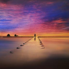 Romantic Sunset by Ketut Manik - Landscapes Waterscapes