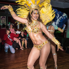Carnaval SF Samba Dancer by Jayasimha Nuggehalli - People Musicians & Entertainers ( fattuesday, carnavalsf, mardigras )