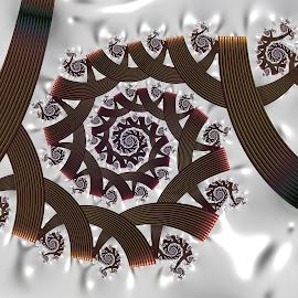 Spiral 15 by Cassy 67 - Illustration Abstract & Patterns ( swirl, wallpaper, white background, spiral, digital, love, digital art, trees, harmony, metallic, fractal, light, fractals, energy )