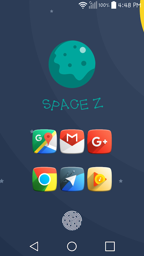 Space Z Icon Pack Theme Screenshot 1