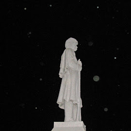 Spirit Orbs around Gettysburg Monument by Christine B. - Buildings & Architecture Statues & Monuments ( cemetery, monument, orbs, pennsylvania, gettysburg,  )