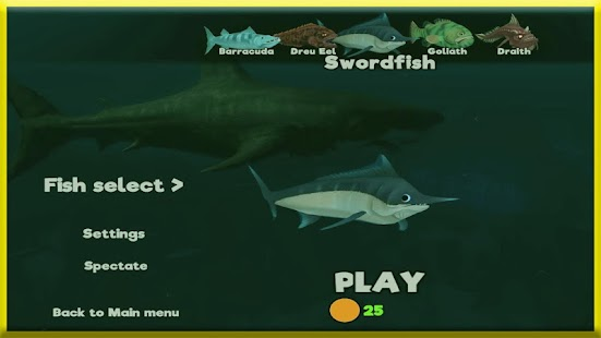 Game feed the fish grow apk for windows phone android for Feed and grow fish the game