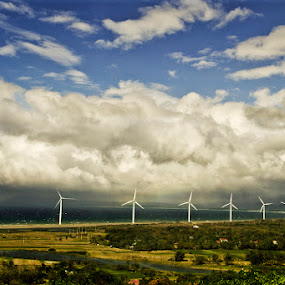The Wind Mills by Russell Baguasan - Landscapes Travel