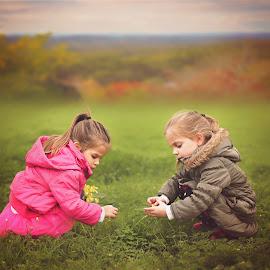 picking flowers by Lucia STA - Babies & Children Children Candids