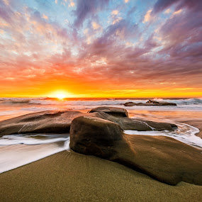 Fall Time at Windansea by Clifford Swall - Landscapes Beaches ( #surf, #sunsetlovers, #coast, #cloudporn, #lajolla, #windansea, #weather, #sonya7rii, #rocks, #sonyalpha, #sandiego, #sony, #skyporn, #ocean, #waves, #redsky, #natgeotravel )
