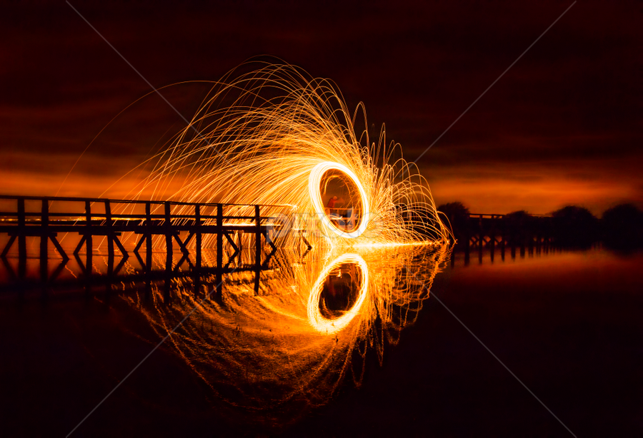 Wire wool 4 by Don Alexander Lumsden - Abstract Light Painting ( fireworks, fire, new year, dipawali, diwali, 2014, Steel wool, Steel Wool, Fire, Sparks,  )