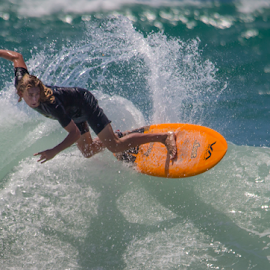 At the Mount 1 by Trevor Bond - Sports & Fitness Surfing ( surfing, mnt mauganui, nz )