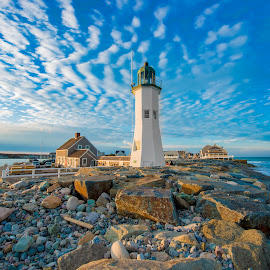 Scituate Lighthouse by Cody Arrington - Buildings & Architecture Other Exteriors ( lighthouse, sea, ocean, beach, seascape, ocean view )