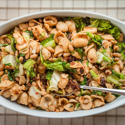 Orecchiette With White Beans, Escarole and Toasted Garlic